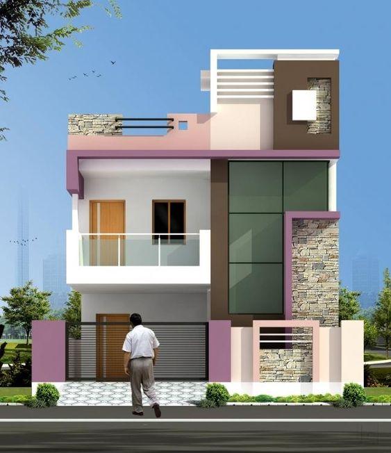 """Front Elevation Of Duplex Building : Chiêm ngưỡng """"thần thái của mẫu thiết kế mặt tiền nhà"""