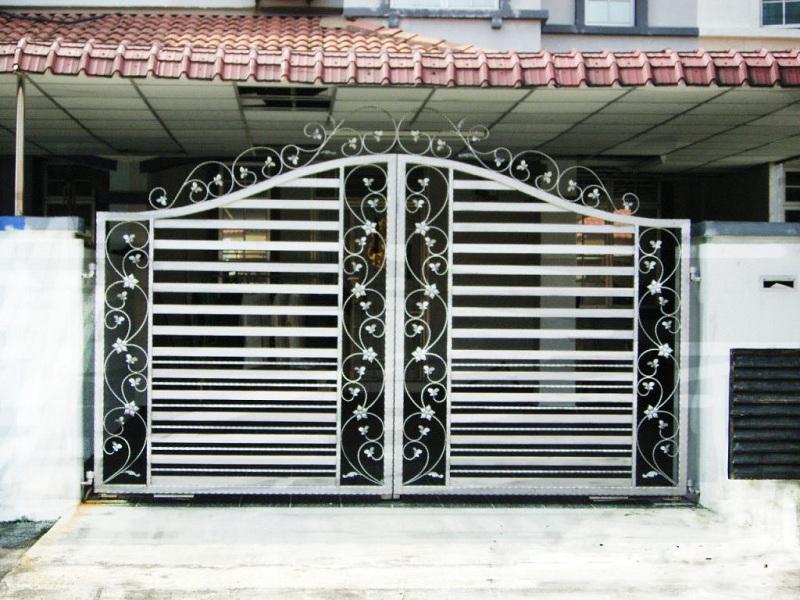 116 mẫu cổng sắt hộp 2 cánh 4 cánh đơn giản đẹp hiện đại 2017