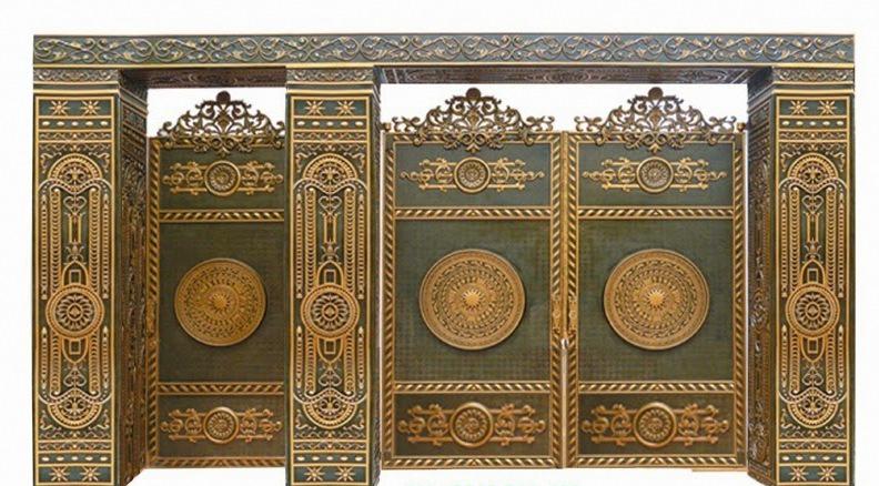 20 mẫu cửa cổng lan can hàng rào nhôm đúc màu đồng