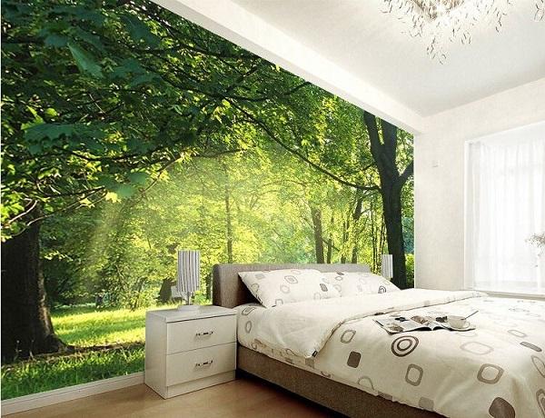 Gạch ghép tranh 3d trang trí phòng khách đẹp hợp phong thủy