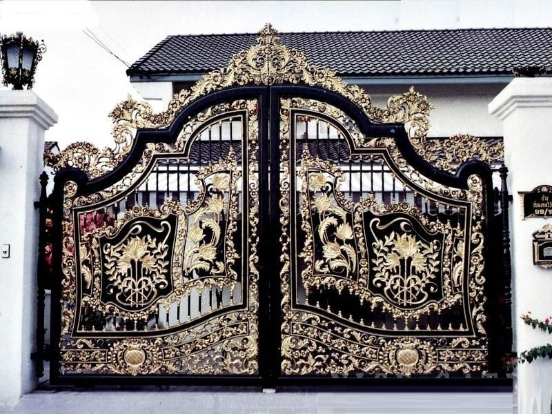 116 Mẫu cổng sắt hộp đẹp 2017