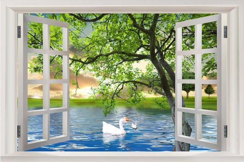 Gạch tranh 5d phong cảnh ốp tường trang trí phòng khách, phòng bếp, ngoài trời đẹp nhất