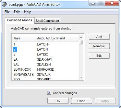 Hướng dẫn thay đổi lệnh tắt trong Autocad